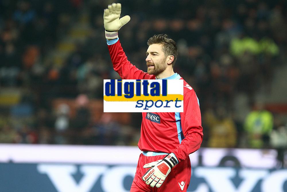 "Morgan De Sanctis Napoli.Milano 09/12/2012 Stadio ""San Siro"".Football Calcio Serie A 2012/13.Inter v Napoli.Foto Insidefoto Paolo Nucci."