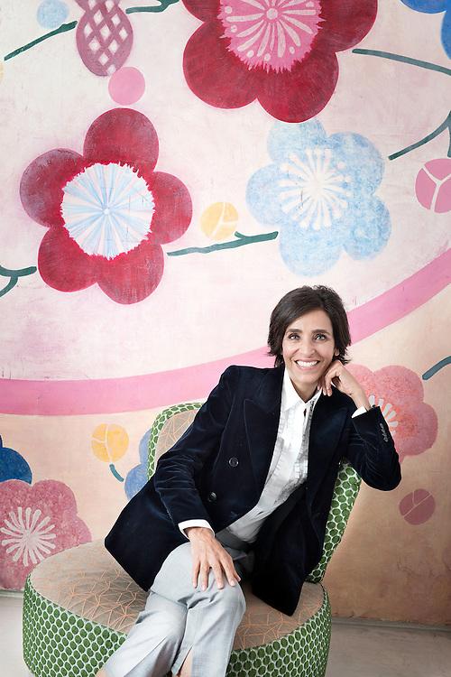 Cristina Samaranch, Embajadora de la firma Aspesi en Espa&ntilde;a, en su tienda de Jorge Juan.<br /> Madrid.