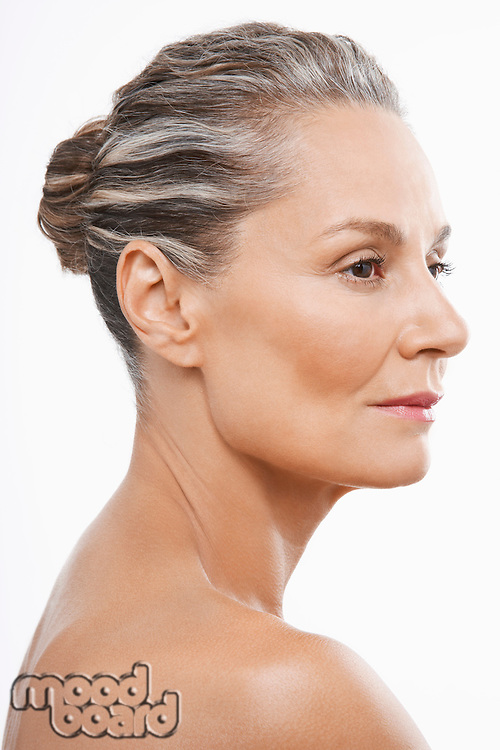 Middle-Aged Woman hair back