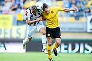 Onderwerp/Subject: Roda JC - Willem II - Eredivisie<br /> Reklame:  <br /> Club/Team/Country: <br /> Seizoen/Season: 2012/2013<br /> FOTO/PHOTO: Rob WIELAERT ( Robbie WIELAERT ) (R) of Roda JC in duel with Aurelien JOACHIM (L) of Willem II. (Photo by PICS UNITED)<br /> <br /> Trefwoorden/Keywords: <br /> #04 $94 &plusmn;1341400859337<br /> Photo- &amp; Copyrights &copy; PICS UNITED <br /> P.O. Box 7164 - 5605 BE  EINDHOVEN (THE NETHERLANDS) <br /> Phone +31 (0)40 296 28 00 <br /> Fax +31 (0) 40 248 47 43 <br /> http://www.pics-united.com <br /> e-mail : sales@pics-united.com (If you would like to raise any issues regarding any aspects of products / service of PICS UNITED) or <br /> e-mail : sales@pics-united.com   <br /> <br /> ATTENTIE: <br /> Publicatie ook bij aanbieding door derden is slechts toegestaan na verkregen toestemming van Pics United. <br /> VOLLEDIGE NAAMSVERMELDING IS VERPLICHT! (&copy; PICS UNITED/Naam Fotograaf, zie veld 4 van de bestandsinfo 'credits') <br /> ATTENTION:  <br /> &copy; Pics United. Reproduction/publication of this photo by any parties is only permitted after authorisation is sought and obtained from  PICS UNITED- THE NETHERLANDS