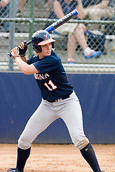 Virginia Cavaliers 1B/OF Brooke Sorber (11) at bat against UMD.  The Virginia Cavaliers softball team fell to the Maryland Terrapins 8-3 in the second game of a doubleheader at The Park in Charlottesville, VA on March 24, 2007.