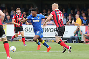 AFC Wimbledon striker Dominic Poleon (10) in action during the EFL Sky Bet League 1 match between AFC Wimbledon and Shrewsbury Town at the Cherry Red Records Stadium, Kingston, England on 24 September 2016. Photo by Stuart Butcher.