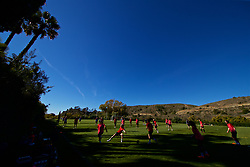 ALHAURÍN EL GRANDE, SPAIN - Wednesday, February 27, 2019: Wales players during a training session at the at Alhaurin Golf Resort in Spain. (Pic by David Rawcliffe/Propaganda)