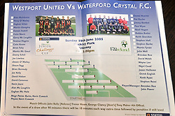 Westport United gathering 10 years On from the famous FAI Junior Cup win over Waterford Crystal in Buckley Park Kilkenny 2005.<br /> Pic Conor McKeown