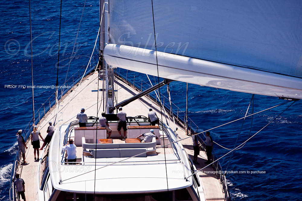 Kokomo sailing in the Caribbean Superyacht Regatta and Rendezvous, race 2.