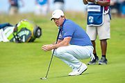 Rory McIlroy (NIR) waits to putt on the 2nd hole during the final round of the Aberdeen Standard Investments Scottish Open at The Renaissance Club, North Berwick, Scotland on 14 July 2019.
