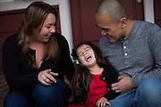 The Khong family poses for portraits in San Jose, California, on November 23, 2014. (Stan Olszewski/SOSKIphoto)