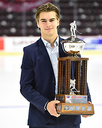 Nico Hischier  of the Halifax Mooseheads won the CCM CHL Rookie of the Year Award. Photo by Aaron Bell/CHL Images