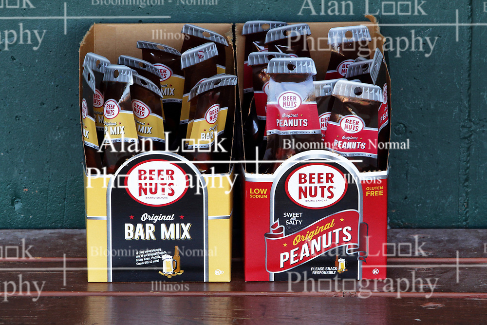 04 August 2018: Beer Nuts snacks. Legends Game for the Miracle League at Corn Crib Stadium on the campus of Heartland Community College in Normal Illinois<br /> <br /> Game featured retired MLB players from the ST. Louis Cardinals and the Chicago Cubs...  Derek Lee, Bobbie Dernier, Kyle Farnsworth, Les Lancaster, Ray Lankford, Kerry Robinson, Jim Edmonds, and Aramis Ramirez