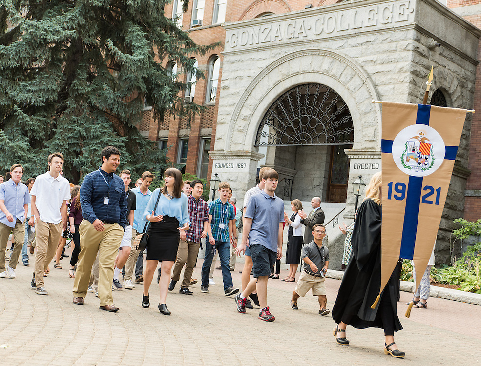 The incoming class of 2020 is welcomed by the faculty during Academic Convocation at St. Aloysius church, which officially starts the 2016-2017 Gonzaga University school year on August 29th, 2016. (Photo by Edward Bell)