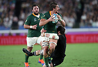 Rugby Union - 2019 Rugby World Cup - Pool B: New Zealand vs. South Africa<br /> <br /> Eben Etzebeth of South Africa and Joe Moody of New Zealand at the International Stadium Yokohama, Yokohama City.<br /> <br /> COLORSPORT/LYNNE CAMERON