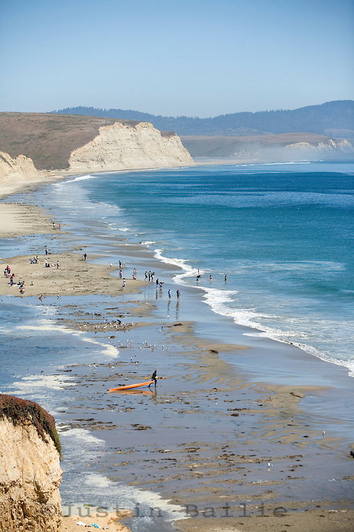 Drakes Beach on the Point Reyes, CA peninsula.