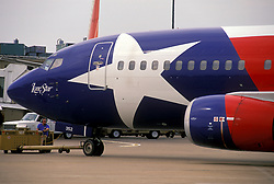 Nose of Southwest Airlines Lone Star Airplane at William P. Hobby Airport