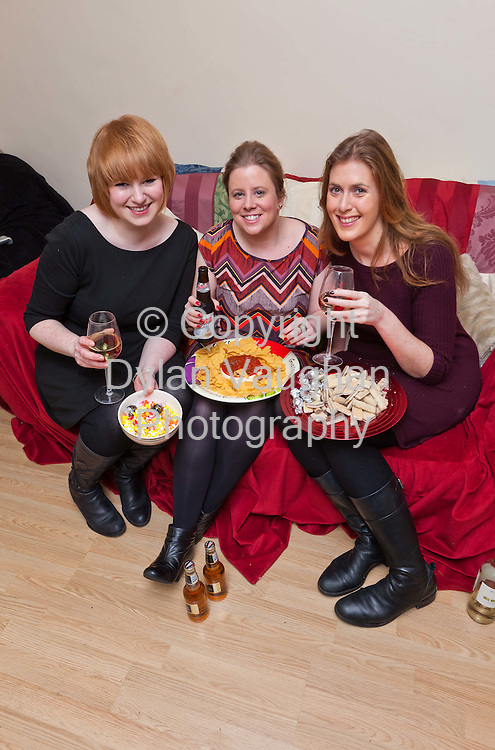 4/1/2012.Deirdre Esmond Walsh,  Eimear Ni Bhraonain and Mary Cody pictured in Kilkenny before the New Year weight lose challenge in aid of the Susie Long Hospice..Picture Dylan Vaughan...