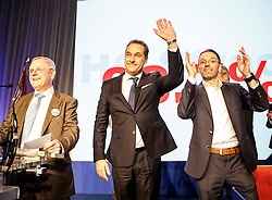 04.03.2017, AUT, FPÖ, 32. Ordentlicher Bundesparteitag, im Bild v.l.n.r. Heinz Christian Strache und Herbert Kickl //  at the 32nd Ordinary Party Convention of the Freiheitliche Partei Oesterreich (FPÖ) in Klagenfurt, Austria on 2017/03/04. EXPA Pictures © 2017, PhotoCredit: EXPA/ Wolgang Jannach