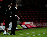 Southampton - Tuesday, September 30th, 2008: Manager Glenn Roeder and assistant Lee Clarke  of Norwich City during the Coca Cola Championship match at Southampton. (Pic by Daniel Hambury/Focus Images)