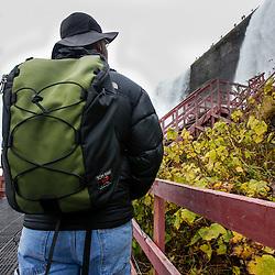 Oct 26, 2015; Buffalo, NY, USA; Tom Bihn Smart Alec backpack at Niagara Falls.: Joe Nicholson Photography