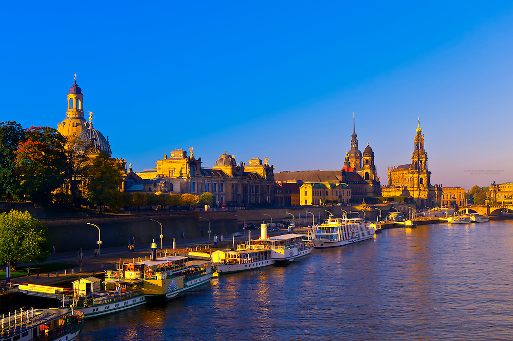 The Elbe River, Dresden, Saxony, Germany
