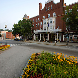 Downtown Claremont, New Hampshire in summer.