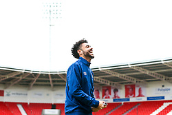Derrick Williams of Blackburn Rovers arrives at Doncaster Rovers - Mandatory by-line: Robbie Stephenson/JMP - 24/04/2018 - FOOTBALL - The Keepmoat Stadium - Doncaster, England - Doncaster Rovers v Blackburn Rovers - Sky Bet League One