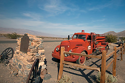 Old red fire truck, Stovepipe Wells, Death Valley National Park, California, United States of America