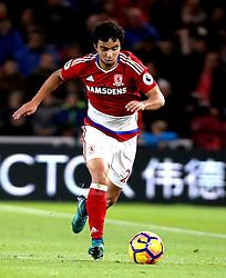 Fabio of Middlesbrough runs with the ball - Mandatory by-line: Robbie Stephenson/JMP - 20/11/2016 - FOOTBALL - Riverside Stadium - Middlesbrough, England - Middlesbrough v Chelsea - Premier League