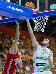 Mirza Begic of Slovenia during friendly match between National teams of Slovenia and Turkey for Eurobasket 2013 on August 4, 2013 in Arena Zlatorog, Celje, Slovenia. (Photo by Vid Ponikvar / Sportida.com)