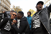 France, Paris, 5 November 2016. March for Adama Traoré, died during the Police arrest. Adama's family and friends organized the march to denounce Police brutality and get justice done.