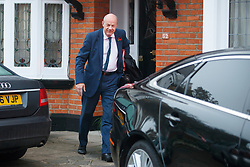 "© Licensed to London News Pictures. 06/11/2017. London, UK. First Secretary of State DAMIAN GREEN seen leaving his London home, following allegations that ""extreme"" pornography was found on his computer during a police raid in 2018. Green was already under investigation for allegedly propositioning a former Tory activist, Kate Maltby. Photo credit: Tolga Akmen/LNP"