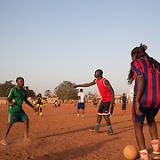 Amazones team players training in the district of Bamako called Bacodjikoronì