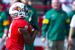 NORMAL, IL - October 05: Charles Woods during a college football game between the ISU (Illinois State University) Redbirds and the North Dakota State Bison on October 05 2019 at Hancock Stadium in Normal, IL. (Photo by Alan Look)