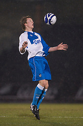 BRISTOL, ENGLAND - Thursday, January 15, 2009: Bristol Rovers' Ollie Clarke during the FA Youth Cup match at the Memorial Stadium. (Mandatory credit: David Rawcliffe/Propaganda)