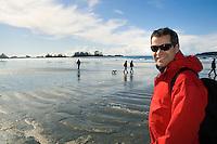 Walking Chesterman Beach, near Tofino, BC Canada