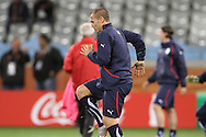 CAPE TOWN, SOUTH AFRICA - 13 JUNE 2010, Fabio Cannavaro of Italy warms up during Italy's training session held at the Cape Town Stadium. Italy play Paraguay in Match 11 of the 2010 FIFA World Cup on Monday 14 June 2010. Photo by: Shaun Roy/Sportzpics