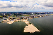 Nederland, Noord-Holland, Amsterdam, 14-06-2012; IJburg, Haveneiland en het nieuwste eiland in wording, de tweede fase (IJburg II). Diemen in de achtergrond..New constructed urban development, residential district IJburg. New isle in the making, IJburg II..luchtfoto (toeslag), aerial photo (additional fee required).foto/photo Siebe Swart