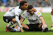 Derby County forward Mason Bennett leaves the pitch injured during the EFL Sky Bet Championship match between Derby County and Sheffield Wednesday at the Pride Park, Derby, England on 9 March 2019.