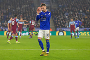 James Maddison (10) during the Premier League match between Leicester City and West Ham United at the King Power Stadium, Leicester, England on 22 January 2020.
