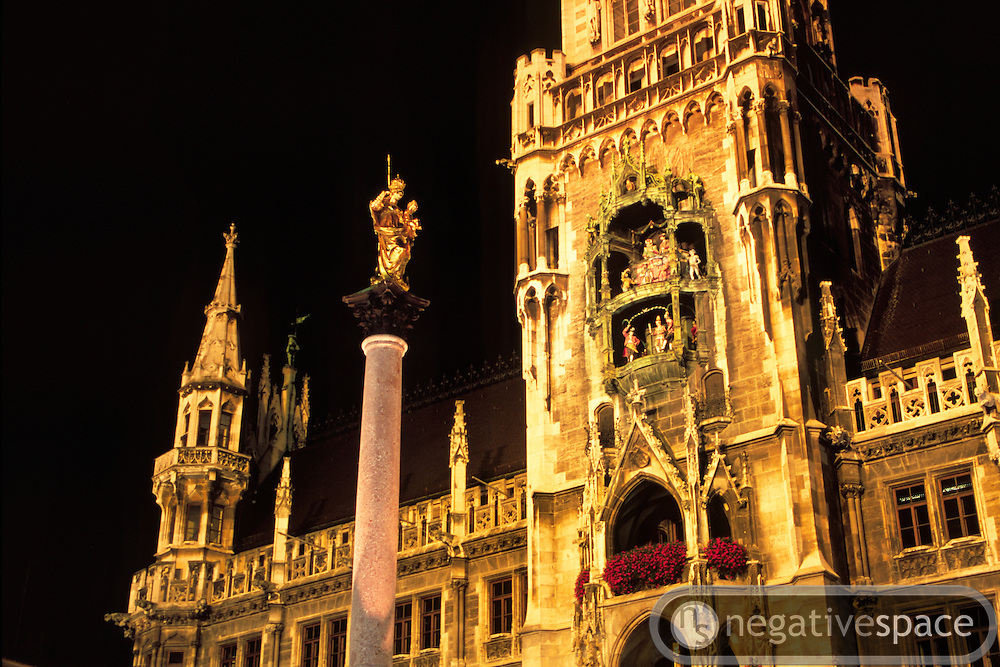 The Glockenspiel at the Marienplatz, Munich, Germany