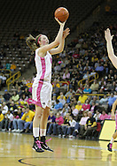 February 16 2011: Iowa Hawkeyes forward Kelly Krei (20) puts up a shot during the first half of an NCAA women's college basketball game at Carver-Hawkeye Arena in Iowa City, Iowa on February 16, 2011. Iowa defeated Wisconsin 59-44.