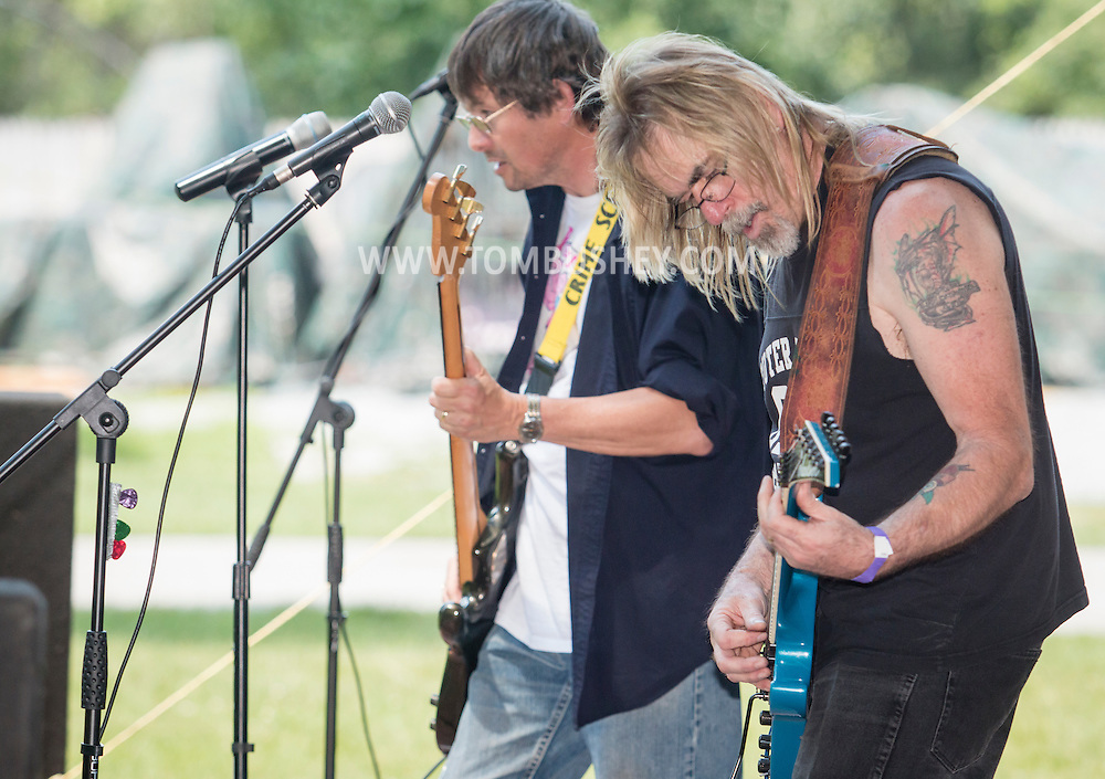 Monroe, New York - Runnin W' SiZZorZ plays at the Rhythm 'n Brews concert to benefit Museum Village on June 13, 2015.