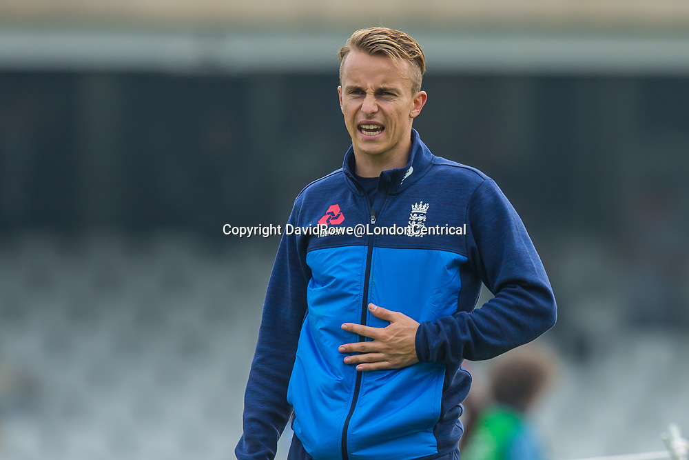 London,UK. 27 September Tom Curran warms-up ahead of the game. England v West Indies. In the fourth Royal London One Day International at the Kia
