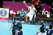 DESCRIZIONE : France Handball Jeux Olympiques Londres <br /> GIOCATORE : Narcisse Daniel FRA<br /> SQUADRA : France Homme<br /> EVENTO : FRANCE Handball Jeux Olympiques<br /> GARA : FRANCE ARGENTINE<br /> DATA : 31 07 2012<br /> CATEGORIA : handball Jeux Olympiques<br /> SPORT : HANDBALL<br /> AUTORE : JF Molliere <br /> Galleria : France JEUX OLYMPIQUES 2012 Action<br /> Fotonotizia : France Handball Homme Jeux Olympiques Londres premier tour <br /> Predefinita :