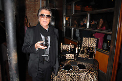 ROBERTO CAVALLI at a party to celebrate the launch of Cavalli Selection - the first ever wine from Casa Cavalli, held at 17 Berkeley Street, London W1 on 29th May 2008.<br />