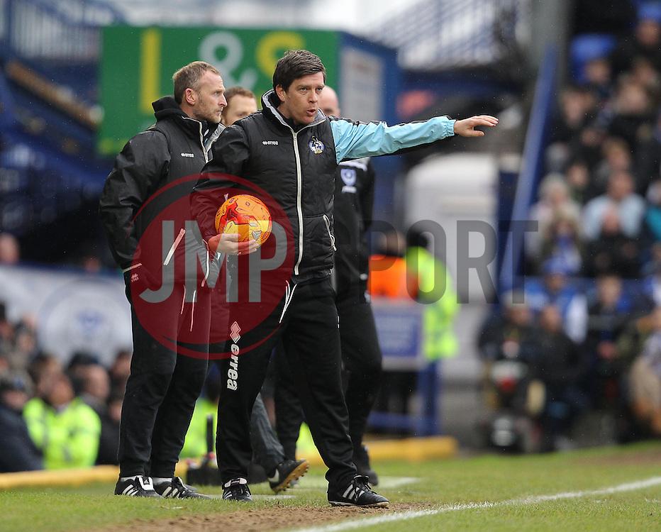Bristol Rovers Manager, Darrell Clarke - Mandatory byline: Paul Terry/JMP - 13/02/2016 - FOOTBALL - Fratton Park - Portsmouth, England - Portsmouth v Bristol Rovers - Sky Bet League Two