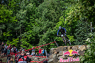 SUETOS Cole (USA) at 2019 UCI Mountain Bike Downhill World Championships in Mont-Sainte-Anne, Canada.