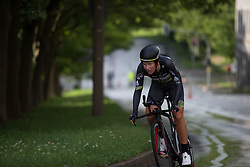 Demi de Jong (NED) of Parkhotel Valkenburg - Destil Cycling Team accelerates uphill during the prologue of the Lotto Thuringen Ladies Tour - a 6.1 km individual time trial, starting and finishing in Gera on July 12, 2017, in Thuringen, Germany. (Photo by Balint Hamvas/Velofocus.com)