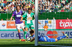 17.05.2015, Ernst Happel Stadion, Wien, AUT, 1. FBL, SK Rapid Wien vs FK Austria Wien, 33. Runde, im Bild Lukas Rotpuller (FK Austria Wien), Stefan Schwab (SK Rapid Wien), Osman Hadzikic (FK Austria Wien)// during Austrian Football Bundesliga Match, 33th round, between SK Rapid Vienna and FK Austria Vienna at the Ernst Happel Stadion, Wien, Austria on 2015/05/17. EXPA Pictures © 2015, PhotoCredit: EXPA/ Sebastian Pucher
