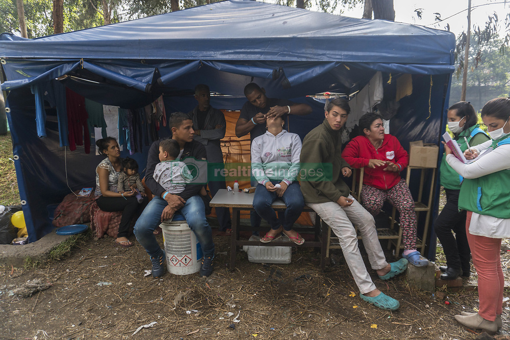 October 3, 2018 - Bogota, Venezuela - Some people in the improvised camp where approximately 390 Venezuelans live a few weeks ago in the vicinity of the transport terminal in the city of Bogota (Credit Image: © Daniel Garzon Herazo/ZUMA Wire)