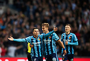 STOCKHOLM, SWEDEN - MAY 17: Kerim Mrbati of Djurgardens IF celebrates after scoring to 2-0 during the Allsvenskan match between Djurgardens IF and Orebro SK at Tele2 Arena on May 17, 2018 in Stockholm, Sweden. Photo by Nils Petter Nilsson/Ombrello ***BETALBILD***