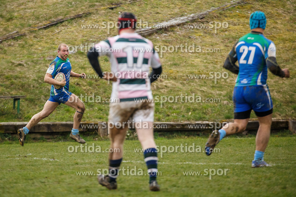 Rugby match between RK Ljubljana and Rugby Union Donau Wien in RRC League, March 12, 2016 at Oval Gunclje, Ljubljana, SLO. Photo by Grega Valancic / Sportida